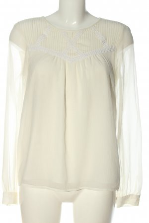 Vila Clothes Langarm-Bluse wollweiß Business-Look