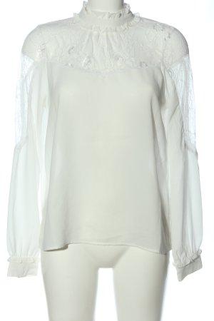 Vila Clothes Langarm-Bluse weiß Business-Look