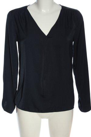 Vila Clothes Langarm-Bluse schwarz-blau Allover-Druck Casual-Look