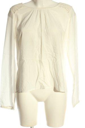 Vila Clothes Langarm-Bluse creme Business-Look
