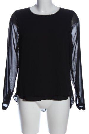 Vila Clothes Langarm-Bluse schwarz Casual-Look