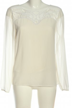 Vila Clothes Langarm-Bluse wollweiß-weiß Casual-Look