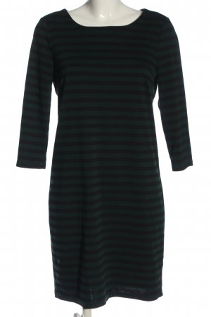 Vila Clothes Langarmkleid grün-schwarz Streifenmuster Casual-Look