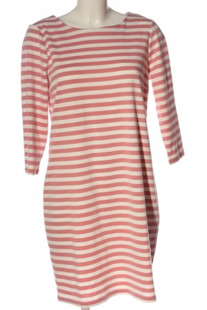 Vila Clothes Langarmkleid creme-pink Streifenmuster Casual-Look