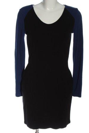 Vila Clothes Langarmkleid schwarz-blau Elegant