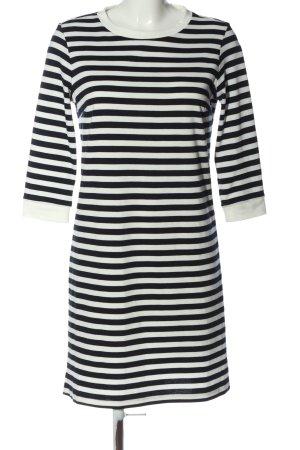 Vila Clothes Langarmkleid schwarz-weiß Streifenmuster Casual-Look