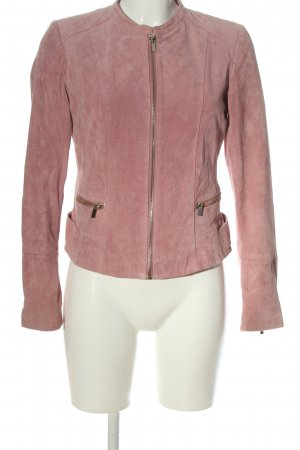 Vila Clothes Lederjacke pink Casual-Look