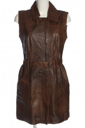 Vila Clothes Leather Dress brown casual look