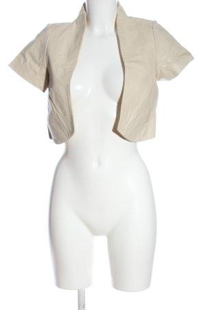 Vila Clothes Skórzana kamizelka w kolorze białej wełny W stylu casual