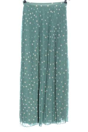 Vila Clothes Jupe longue turquoise-blanc imprimé allover élégant