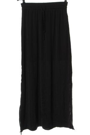 Vila Clothes Falda larga negro look casual
