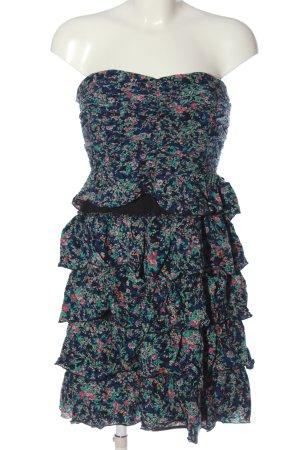 Vila Clothes Minikleid blau-türkis Allover-Druck Casual-Look