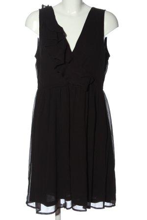 Vila Clothes Minikleid schwarz Streifenmuster Casual-Look