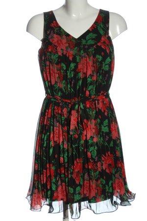 Vila Clothes Minikleid schwarz-rot Blumenmuster Elegant