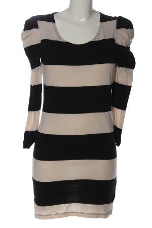Vila Clothes Minikleid nude-schwarz Streifenmuster Casual-Look