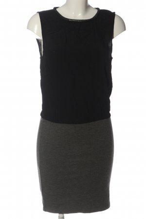 Vila Clothes Minikleid schwarz-hellgrau Casual-Look