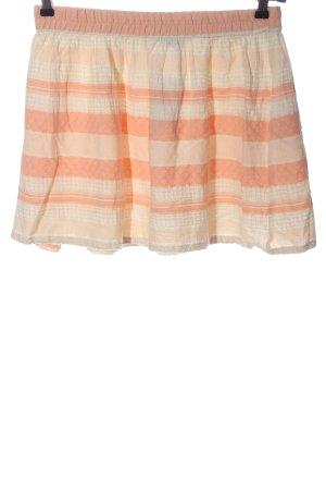 Vila Clothes Minirock creme-hellorange Streifenmuster Casual-Look