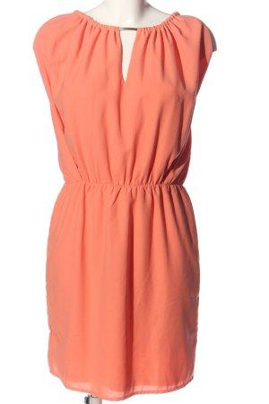 Vila Clothes Vestido de cuello Halter naranja claro elegante