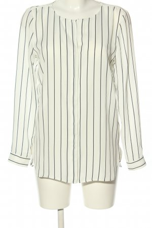 Vila Clothes Oversized Blouse natural white-black striped pattern casual look