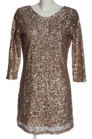 Vila Clothes Sequin Dress silver-colored elegant
