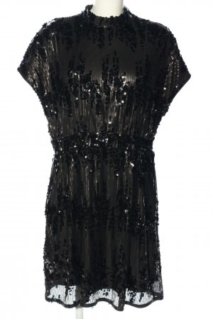 Vila Clothes Vestido de lentejuelas negro brillante
