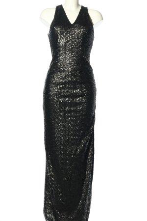 Vila Clothes Cekinowa sukienka czarny Elegancki