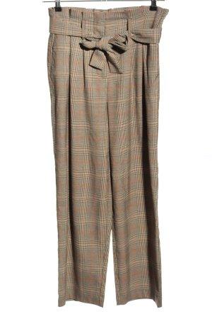 Vila Clothes Paperbag-Hose braun-hellorange Allover-Druck Business-Look