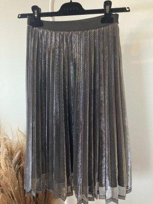 Vila Clothes Gonna pieghettata argento-grigio