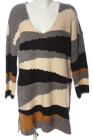 Vila Clothes Sweaterjurk volledige print casual uitstraling