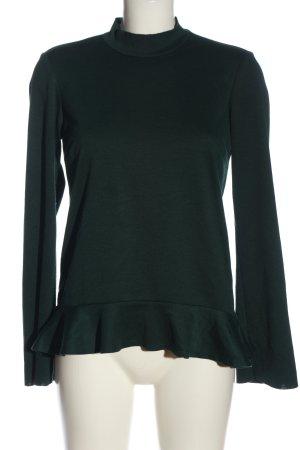 Vila Clothes Rüschen-Bluse schwarz Casual-Look