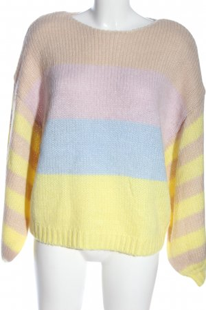 Vila Clothes Rundhalspullover Streifenmuster Casual-Look