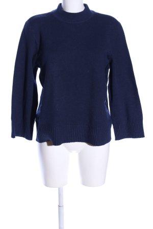 Vila Clothes Rundhalspullover blau Casual-Look