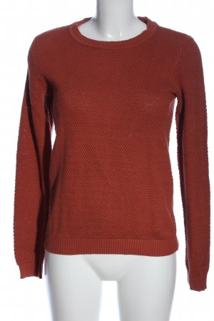 Vila Clothes Rundhalspullover rot Casual-Look