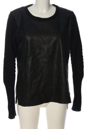 Vila Clothes Rundhalspullover schwarz Casual-Look
