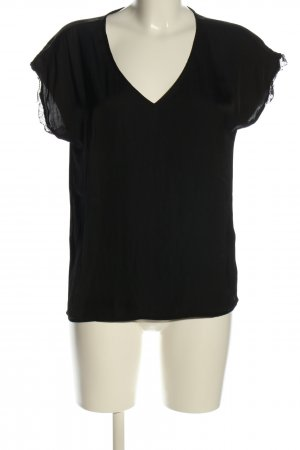 Vila Clothes Schlupf-Bluse schwarz Casual-Look