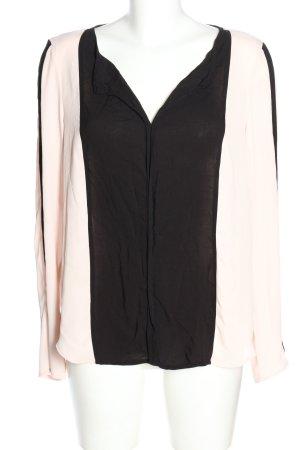 Vila Clothes Schlupf-Bluse creme-schwarz Casual-Look