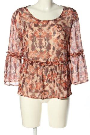 Vila Clothes Schlupf-Bluse Allover-Druck Casual-Look