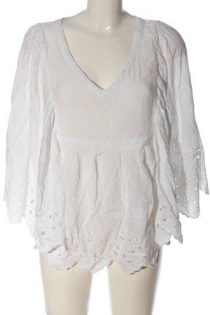 Vila Clothes Schlupf-Bluse weiß Casual-Look