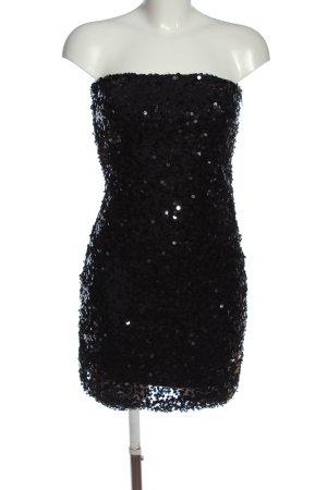 Vila Clothes schulterfreies Kleid schwarz Elegant
