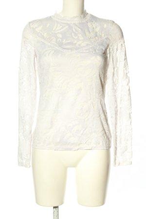 Vila Clothes Blusa de encaje blanco look casual