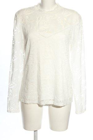 Vila Clothes Blouse en dentelle blanc style décontracté