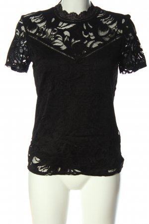 Vila Clothes Spitzenbluse schwarz Elegant