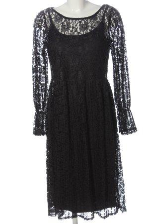 Vila Clothes Spitzenkleid schwarz Elegant