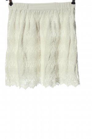 Vila Clothes Lace Skirt natural white graphic pattern casual look