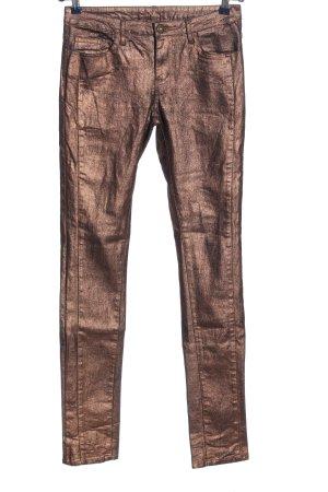 Vila Clothes Stoffhose bronzefarben Casual-Look