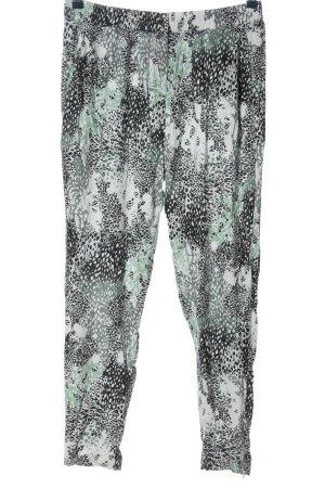Vila Clothes Stoffhose abstraktes Muster Casual-Look