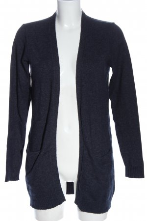 Vila Clothes Strick Cardigan blau meliert Casual-Look