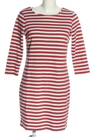 Vila Clothes Strickkleid rot-weiß Streifenmuster Casual-Look