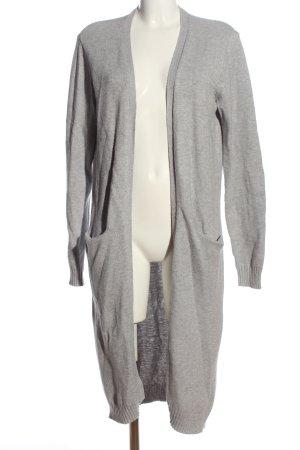Vila Clothes Abrigo de punto gris claro moteado look casual