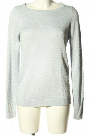 Vila Clothes Strickpullover hellgrau grafisches Muster Casual-Look